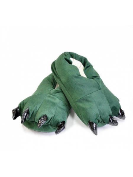 Тапочки кигуруми детские зеленого цвета SKL11-277635