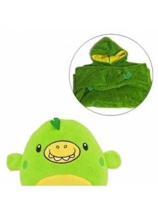 Толстовка с капюшоном худи Huggle Pets трансформер в игрушку Зеленый SKL11-276472