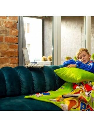 Рукоплед Плед с рукавами из микрофибры с рисунками детский 125х80 Щенячий патруль зеленый SKL20-277454