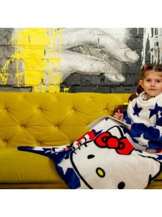 Рукоплед Плед с рукавами из микрофибры с рисунками детский 125х80 Kitty SKL20-277457