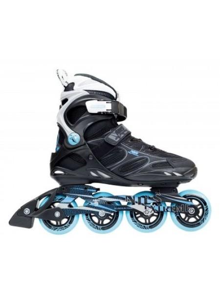 Роликовые коньки Nils Extreme черно-синие Size 40 NA5003S SKL41-227346