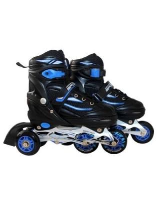 Роликовые коньки SportVida 4 в 1 SV-LG0029 Size 35-38 Black-Blue SKL41-227433