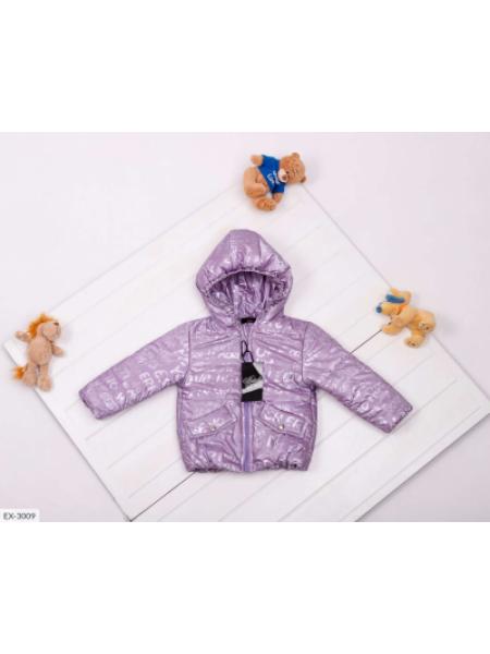 Детская демисезонная куртка лиловая SKL11-283301