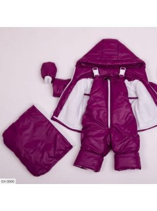 Детская тройка демисезонная малиновая SKL11-283306