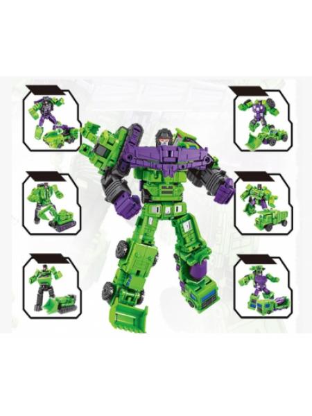 Робот-Комбайнер Трансформер Девастатор 6в1, 21 см SKL14-284144