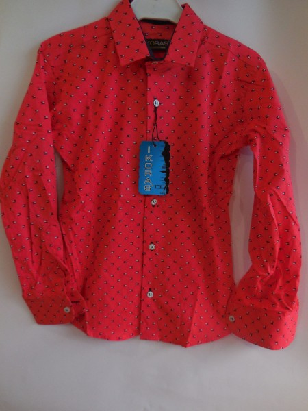 Стильная рубашка для мальчика красная