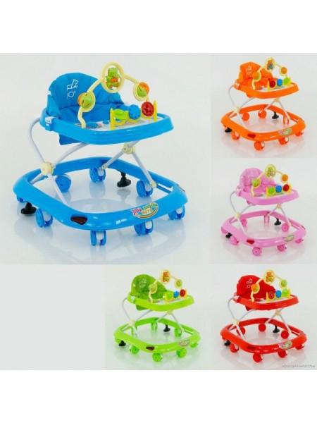 Ходунки детские с игровой панелью и музыкой, голубые