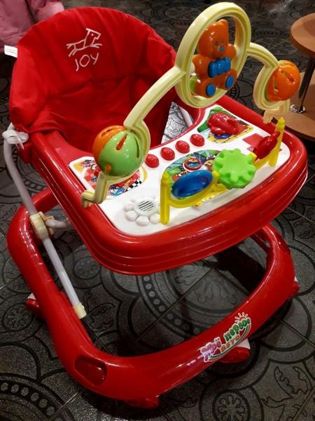 Ходунки детские с игровой панелью и музыкой, красные