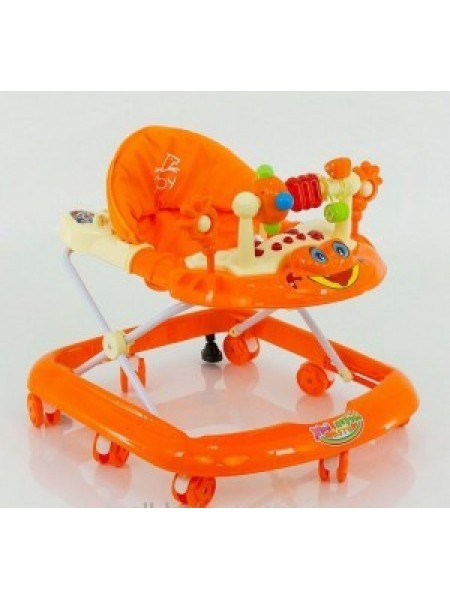 Ходунки детские музыкальная игровая панель, оранжевые
