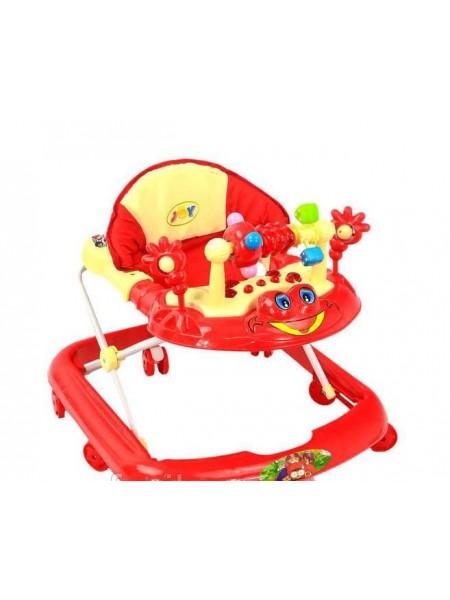 Ходунки детские музыкальная игровая панель, красные