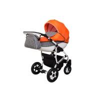 Детская коляска VIPER FASHION VFA-101, 2 в 1 оранжевая
