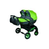 Детская коляска для двойни VIPER D-66, 2 в 1 салатовая