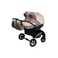 Детская коляска для двойни VIPER D-22, 2 в 1 бежевая