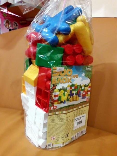 Конструктор блочный пластмассовый Зоо Блок 3