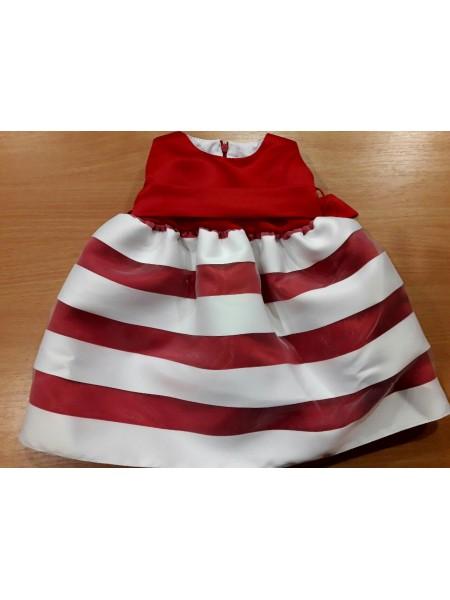 Платье нарядное для девочки красное, атлас
