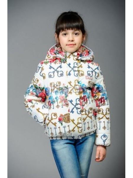 """Куртка белая для девочки """"Стефани"""""""