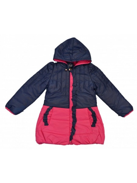 Куртка для девочки,  цвет малиновый с синим