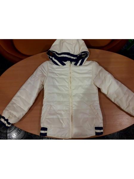 Куртка - парка для девочки молочная