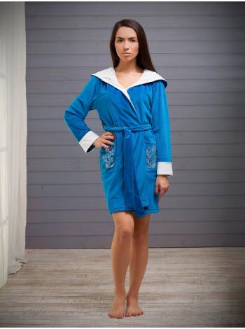 Стильный велюровый халат