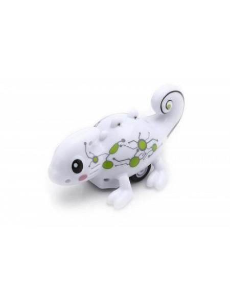 Индуктивная игрушка Happy Cow Хамелеон 777-613 меняет цвет и ездит по линии SKL17-223464